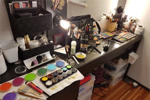 makeup schminken regenbogen vorbereitungen