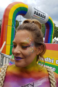 makeup bodypainting regenbogenparade wien